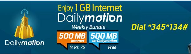 Dailymotion Telenor Internet Bundle Offer 2015 Free
