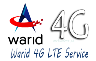 Warid 4G LTE Rates for Postpaid and Prepaid packages 2015