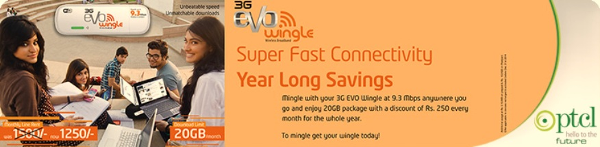 PTCL EVO Wingle Winter Promo till 31th Jan 2015