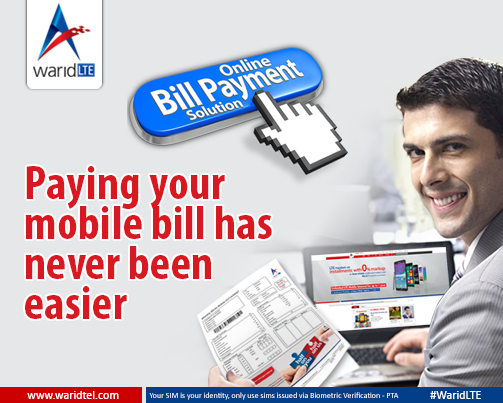 Online Bill Payments in Pakistan by Warid LTE PK