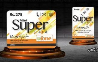 Ufone Mini Super Card, valid for 15 days