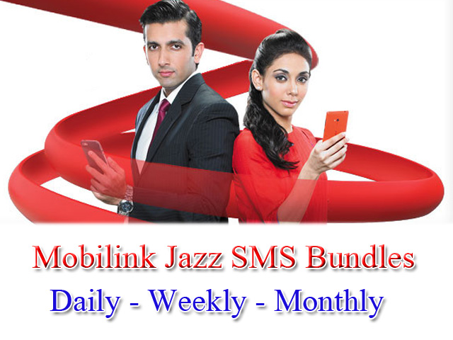 All Mobilink SMS Packages, Daily, Weekly, Monthly bundle