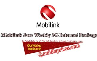 mobilink jazz 3g weekly internet packages