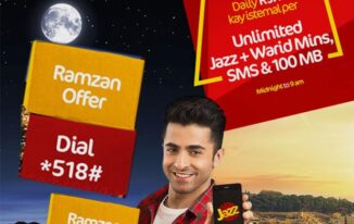 Mobilink Jazz Ramadan Offer Minutes , SMS , Internet 2017 free