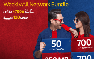 New Mobilink Jazz Weekly All Network Offer